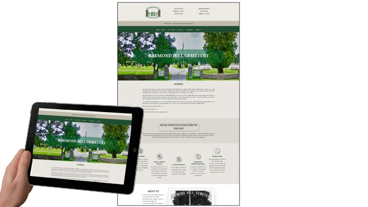 Raymond Hill Cemetery Death Care Websites client